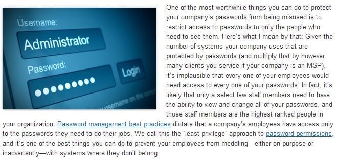 password access
