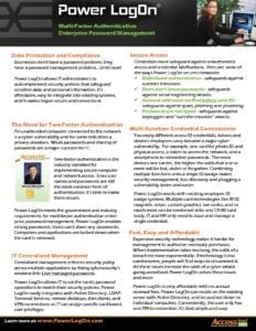 Power LogOn General Cybersecurity Datasheet for General Business